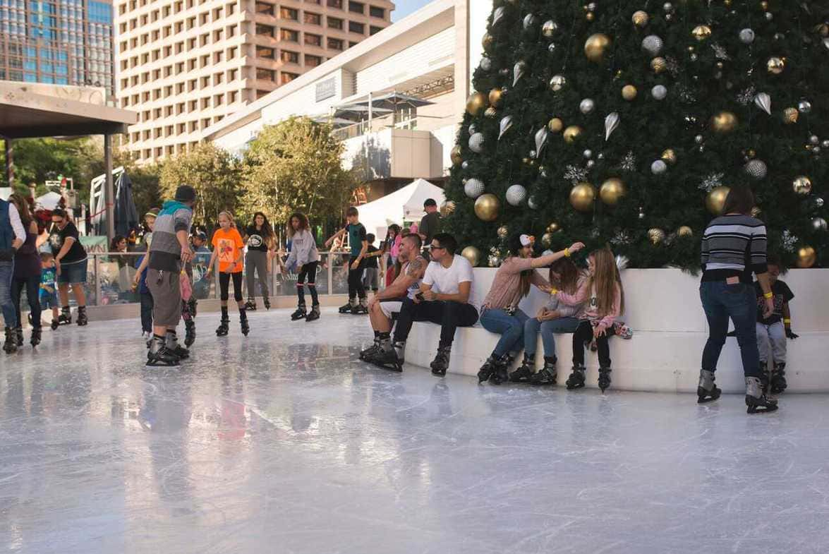 Ice skating at CityScape